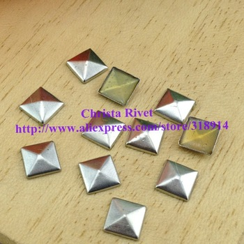 Free Shipping 7mm Silver Stick-on Copper Pyramid studs Fashion Punk Rock Rivet Phone case Accesorry 500pcs/lot