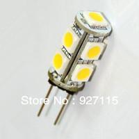 Free Shipping 100% Brand New 50pcs G4 9 SMD 5050 LED Bulb Warm/ Cool White Light 12V