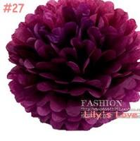 "50pcs 10cm/4"" Pom Poms Ball-Tissue Paper Pom Poms Flower Weddings, Woodland, Modern Vintage, Decorations #27"