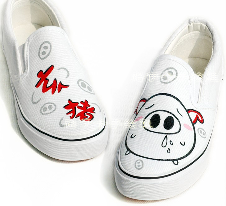 Zodiac male female hand-painted shoes canvas shoes graffiti shoes personality lovers shoes(China (Mainland))