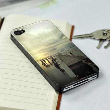 For iPhone 5 Scenic Ocean Sunset Bridage plastic(PC) case cover skin