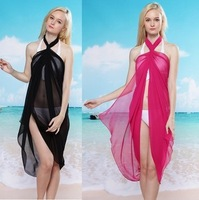 2013 New 8 color in stock sexy beach wraps bikini cover up pareo dress, Free Shipping