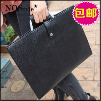 2013 bag PU thin soft leather envelope bag laptop bag handbag messenger bag briefcase