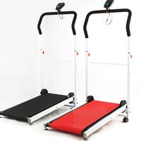 Mini mechanical running machine wheeled folding walking machine home use weight loss fitness equipment  Shipping Fee Adjustable