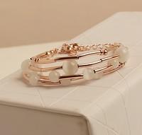 High quality moonstone delicate multi-layer fashion bracelet perfume korean jewelry Free Shipping
