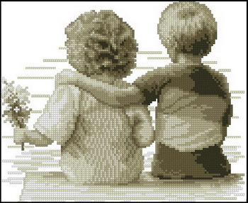 FREE SHIPPING 14 counted aida cross stitch kids children kit needlepoint needle craft C069