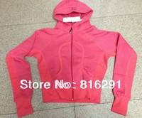 lulu hoodies scuba Lady Sport Athletic Jacket yoga wear coat Women's hoodies fashionable brown dark pink clothing clothes