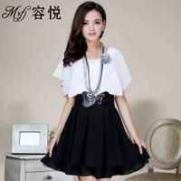 2013 women's batwing sleeve slim formal chiffon one-piece dress