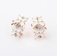 Min.order is $15 (mix order)2013 fashion jewellery Ruili fashion butterfly flower earrings