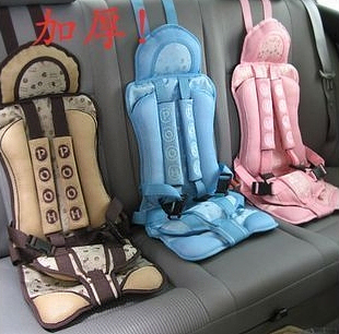Softcover suspenders car child safety seat cushion elevator mat auto supplies(China (Mainland))