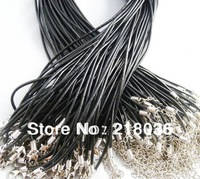 Wholesale 100PCS  Real Leather Black   Cord  Necklace Fit European Beads Charms 24 inches DIY Making Jewelry  M2037
