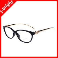 I-bright leopard head myopia glasses frame female/women optical frame prescription eyeglasses 1.56 1.61 1.67 lenses plain mirror