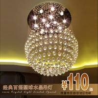 crystal  living room lights modern crystal lamp restaurant lamp ball crystal lamp ceiling light free shIpping