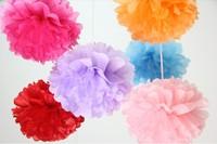 50Pcs 12inch/30cm 27 Colors Choose Free Shipping Tissue Paper Pom Poms Wedding Party Decor Craft festival decoration Wholesale