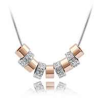 Free Shipping 2013 time crystal necklace jewelry accessories birthday gift