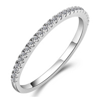 Free Shipping 2013 925 pure silver ring full rhinestone jewelry birthday gift female