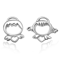 Free Shipping 925 pure silver stud earring fashion jewelry baby doll accessories birthday gift earring