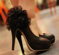 Free Shipping Faux pu Leather Women High Heel Shoes,Cute Bow Pumps Women,4 Seasons can Wear