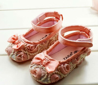 hot Classic 	 bow-knot   Baby girls shoes , non-slip toddler shoes  free shipping 11cm 12cm 13cm