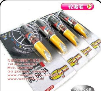 Free Shipping Automobile Tire Pen Car Tire Painting Pen Dazzle Color Auto Tire Pen Car Tire Logo Pen