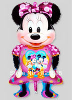 Free shipping NEW ARRIVAL20pcs/lot aluminum foil helium balloons Minnie mouse balloon