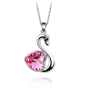 Free shipping 2013 swan lake necklace austria crystal necklace