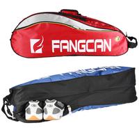 Fangcan one shoulder badminton bag sports bag independent shoe 6 oxford fabric