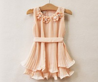 free shipping    The girl pearl Ruffle Dress    TU TU   kids dress 6pcs/lot   zjx