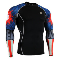 Fitness basic fancy football basic long-sleeve tight-fitting fan clothing