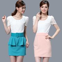 Summer women's 2013 ol lace short-sleeve dress slim fashion elegant formal one-piece dress