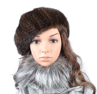 Mink beret winter fur hat thermal women's fashion fur hat