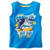 HOT Brand 2013 summer babys sleeveless clothing cotton boys clothing children's clothes babyT-shirt (80cm-120cm)