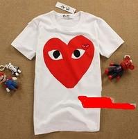 Cdg play t-shirt trend personality big love 2014 summer short-sleeve T-shirt