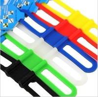 Free shipping Mountain bike silica gel strap bicycle universal stopwatch mobile phone holder bandage bike accessory