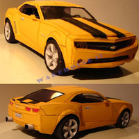 Free shipping new product for 2013 hot  paper model car Bumblebee Camaro 1:12 scale 45CM long 3d paper puzzles home decoration