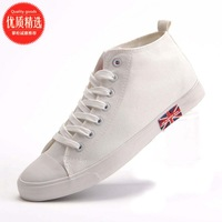 Men's high canvas shoes male solid color fashion casual cloth shoes male breathable shoes trend 2013