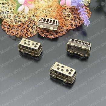 (J-M970)Alloy Findings,charm pendants,Antiqued style bronze tone 19*8*10MM Bus 20PCS
