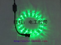 Rainbow tube neon lamp led strip ribbon bineme round line green light 24 beads