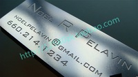 Personalized deep etched quality stainless steel business metal card