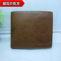 Hot-selling casual leather male short design wallet