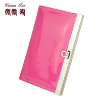 2013 women's horseshoe buckle wallet short design candy color japanned leather coin purse female document package
