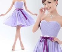 Cute Short Off The Shoulder Homecoming Prom Dresses New Fashion 2014 Sexy Bridesmaid Party Evening Dress(purple,red,beige)