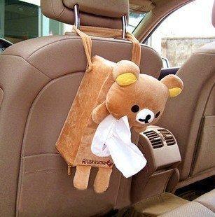 NEW Car accessories Rilakkuma San-X Cute Plush Car Tissue Box Cover  free shipping