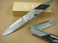 GTC F33 Flying through space Camping Folding Knife Pocket Hunting Knives 5CR13 58HRC Blade Aluminum Handle Freeshipping