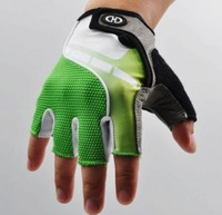 Green Cycling Bike Bicycle Shockproof Hexagon 3D GEL Sports Half Finger Glove