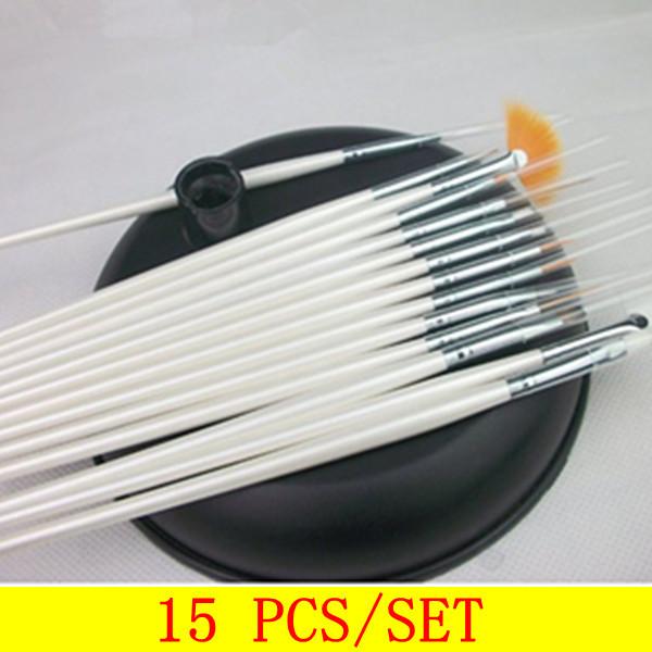15bs-002 15 piezas de arte de uñas de acrílico diseño de cepillo de