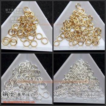 Metal ring silver gold measurement nail art diy 30
