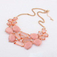 Wholesale Crew inspired necklace neon stone bib necklace crew jewelry 6 pieces / lot  FREE shipping