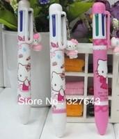 Hello Kitty ball pen,Cartoon Ball point pen,Lovely Hello Kitty 6 color Ballpoint pen