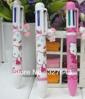 Hello Kitty ball pen,Cartoon Ball point pen,Lovely Hello Kitty 6 color Ballpoint pen
